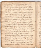 MEDICAL MANUSCRIPT - An 18th century French medical manuscript
