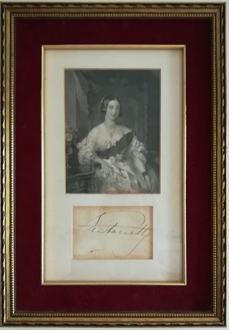 VICTORIA - Signature framed with portrait