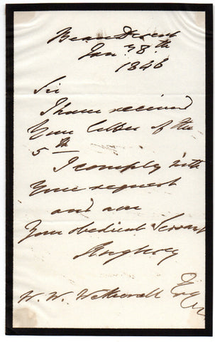 ANGLESEY Henry Paget Marquess of - Autograph Letter Signed 1846