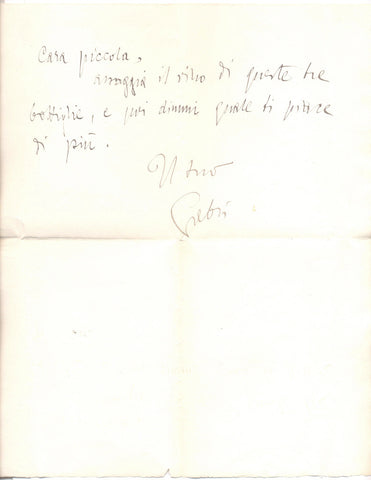 ANNUNZIO Gabriele d' - Autograph Letter Signed to his mistress