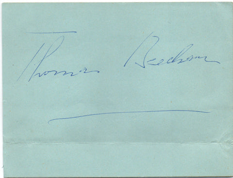 BEECHAM Thomas - signature