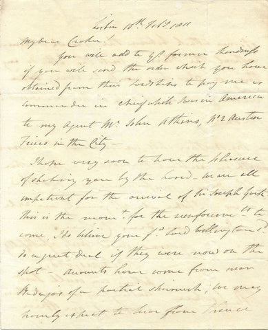 BERESFORD Sir John - Autograph Letter Signed 1811 regarding a skirmish