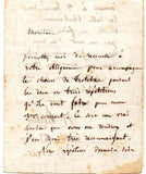 BERLIOZ Hector - Autograph Letter Signed 1845 requesting an accompanist