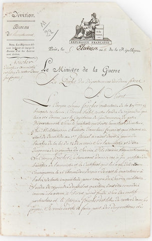 BERTHIER Louis Alexandre - Letter Signed 1803 interceding for a soldier