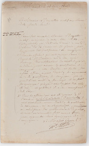 BERTHIER Louis Alexandre - Letter Signed 1806 regarding bonuses after Austerlitz