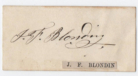 BLONDIN Jean-Francois - signature on card