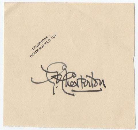 CHESTERTON Gilbert Keith - signature
