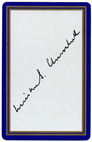 CHURCHILL Sir Winston - His Playing Card with his facimile signature