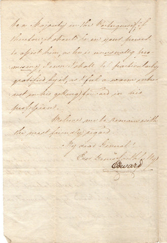 EDWARD Duke of Kent - Letter Signed 1814 from Queen Victoria's father