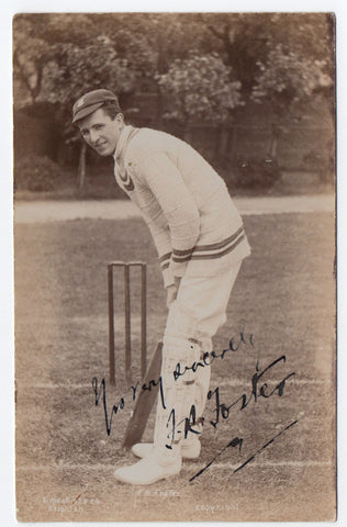 FOSTER Frank Rowbotham - Postcard Photograph Signed of the England Cricketer