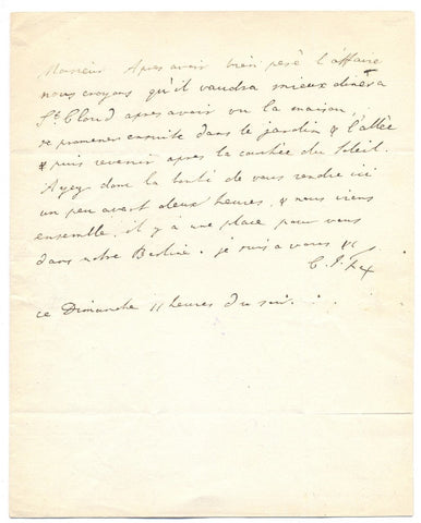 FOX Charles James - Autograph Letter Signed 1802 while visiting Paris