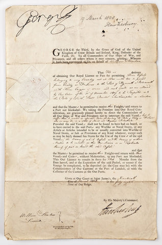 GEORGE III - Document Signed 1808
