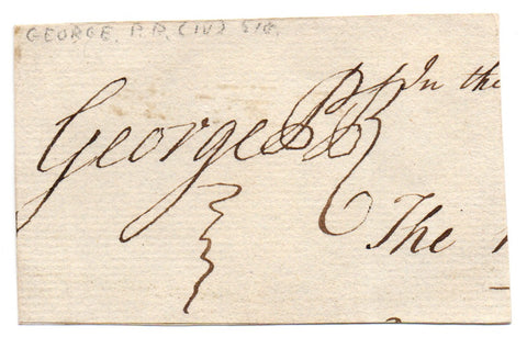 GEORGE IV - Signature as Prince Regent