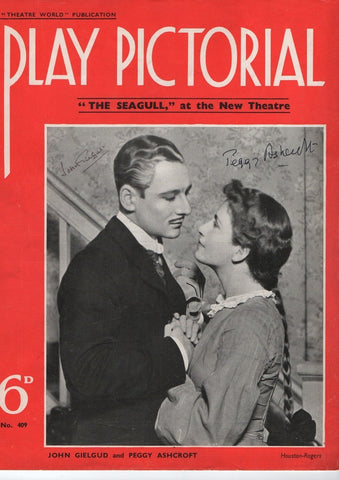 GIELGUD John and ASHCROFT Peggy - Magazine Photograph Signed 1936