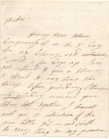 JORDAN Dorothea - Autograph Letter Signed 1805 from the celebrated actress
