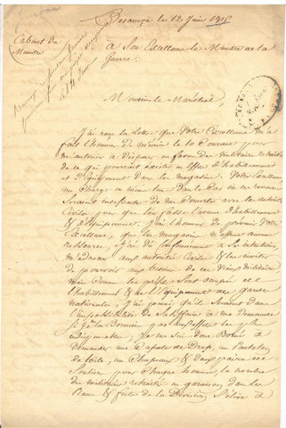 JOURDAN Jean Baptiste - Letter Signed 1815 during the Hundred Days