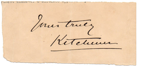 KITCHENER Horatio Herbert - signature
