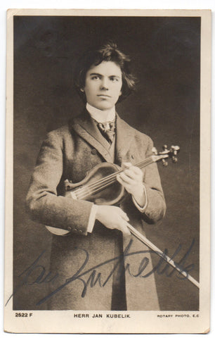 KUBELIK Jan - Postcard Photograph Signed