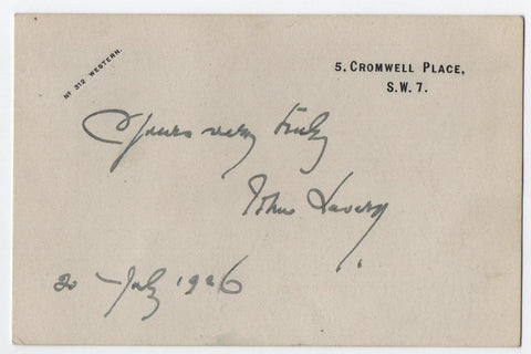 LAVERY John - signed card
