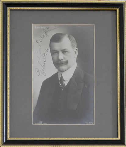 LEHAR Franz - Photograph Signed and inscribed