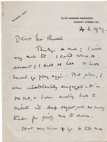 MACAULAY Rose - Autograph Letter Signed 1927 acknowledging a compliment