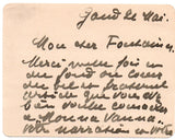 MAETERLINCK Maurice - Autograph Card Signed 1902 after a favourable review