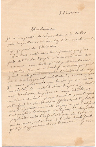 MARCEL Gabriel - Autograph Letter Signed discussing the education of children