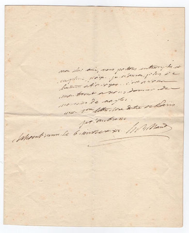 MARET Hugues-Bernard - Autograph Letter Signed 1805 after victory at Austerlitz