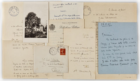 MASSENET Jules - Autograph Letter Signed 1907 and associated documents