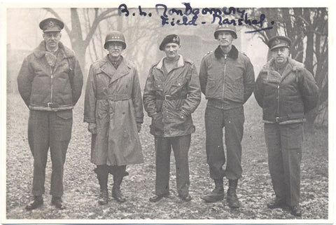MONTGOMERY of ALAMEIN - Photograph Signed 1944 during the Battle of the Ardennes
