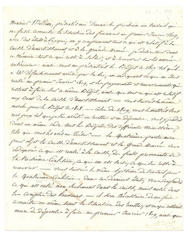 NAPOLEON I - Letter Signed 1809 with an autograph postscript