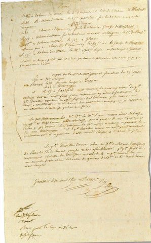 NEY Michel - Document Signed 1807 sending orders