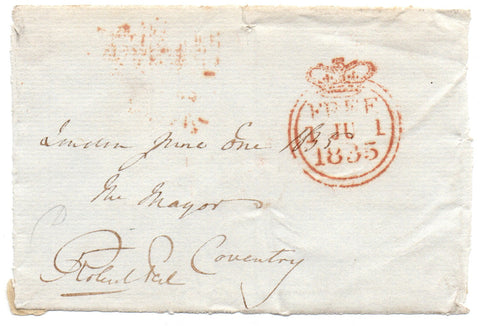PEEL Robert - Free Frank Signed 1835