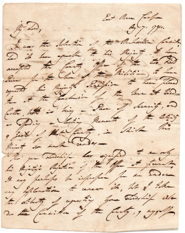RADNOR 2nd Earl of - Autograph Letter Signed 1794