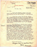 REDGRAVE Michael - Three Autograph & Typed Letters Signed 1954 giving details of his commitments