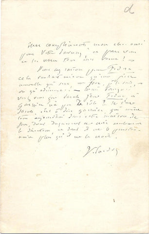 SARDOU Victorien - Autograph Letter Signed producing a play with Bernhardt