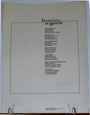 SMITH Stevie - Poem of the Month Club Francesca in Winter Signed