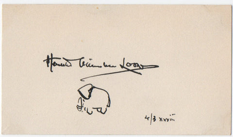 van LOON Hendrik Willem - Elephant sketch Signed 1933