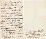 WELLINGTON Duke of - Autograph Letter Signed 1839 from Walmer Castle signed Prince de Waterloo