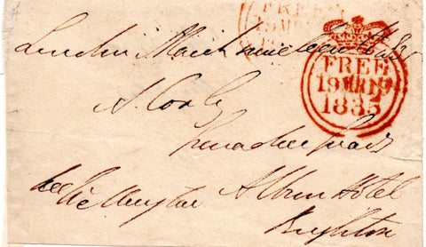 WELLINGTON Duke of - Free Frank Signed 1835