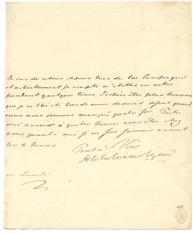 WILLIAMS WYNN Henry -Autograph Letter Signed 1808-09