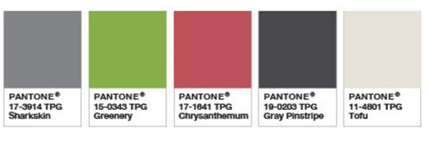 Panton Deep Rooted Greenery Colour palette