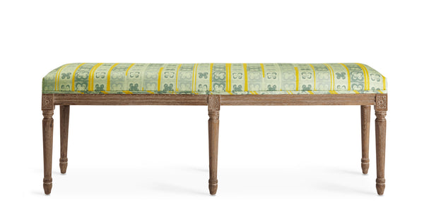 Juliette Bench with Nkunti print for Swoon editions