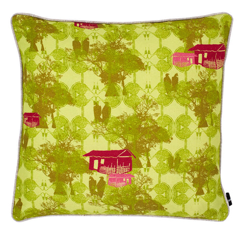 Kouamo Unfurl Green cushion