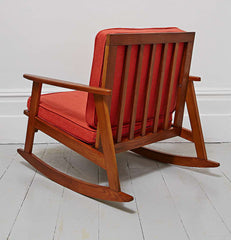 Mid Century Orange Rocking Chair Urban Outfiters