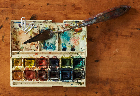 Watercolours palette