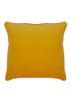 Kouamo Jutias Yellow Cotton Velvet Cushion back cover (Bathed in the Sun pattern) travel-inspired by Cuba