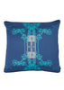 Kouamo - Trinidad Silk Cushion (Blue Quench)