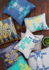 Kouamo - Trinidad Silk Cushion (Blue Quench) photographed by Yeshen Venema