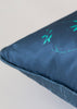 Kouamo - Trinidad Silk Cushion (Blue Quench) piping detail photographed by Yeshen Venema